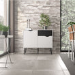 Oslo Sideboard - Small - 1 Drawer 2 Doors in White and Black Matt - Alidasa