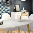 Oslo Dining Table - Large (160cm) in White and Oak - Alidasa