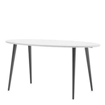 Oslo Dining Table - Large (160cm) in White and Black Matt - Alidasa