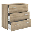 Space Chest of 3 Drawers in Oak - Alidasa