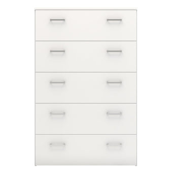 Space Chest of 5 Drawers in White alidasa.myshopify.com