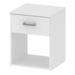 Space Bedside 1 Drawer in White - Alidasa