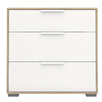 Line Chest of 3 Drawers in White and Oak alidasa.myshopify.com