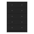 May Chest of 5 Drawers in Black - Alidasa