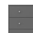 May Chest of 5 Drawers in Grey - Alidasa