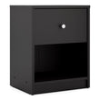 May Bedside 1 Drawer in Black - Alidasa