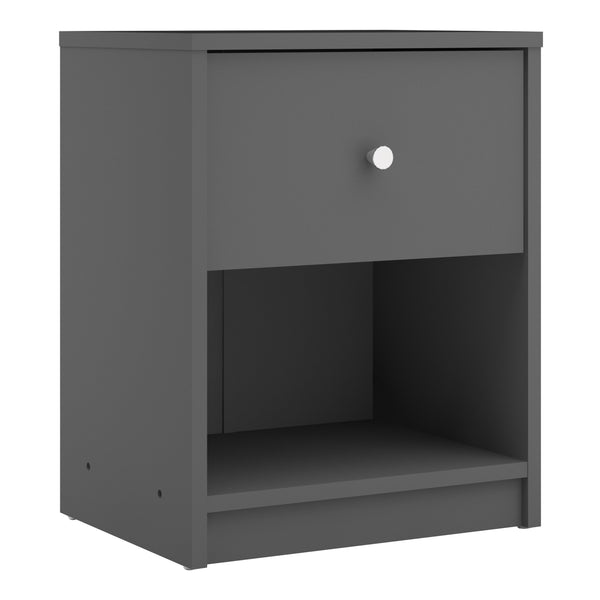 May Bedside 1 Drawer in Grey alidasa.myshopify.com