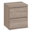 Nova Bedside 2 Drawer in Truffle Oak - Alidasa