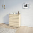 Nova Chest of 3 Drawers in Oak - Alidasa