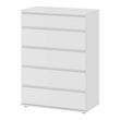 Nova Chest of 5 Drawers in White - Alidasa