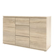 Nova Sideboard - 3 Drawers 2 Doors in Oak - Alidasa