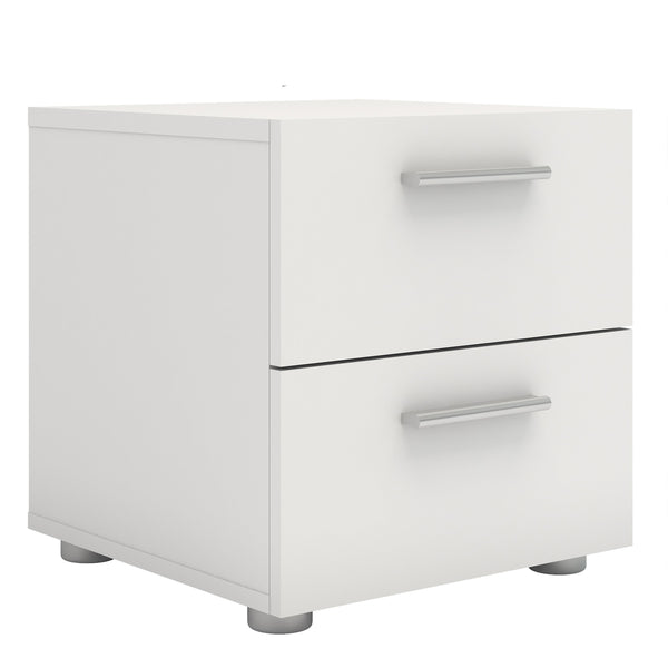 Pepe Bedside 2 Drawers in White - Alidasa