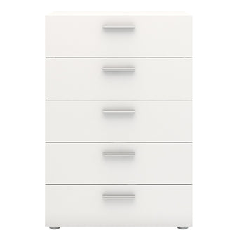 Pepe Chest of 5 Drawers in White alidasa.myshopify.com