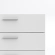 Pepe Chest of 5 Drawers in White - Alidasa