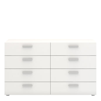 Pepe Wide Chest of 8 Drawers (4+4) in White alidasa.myshopify.com