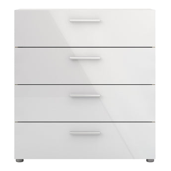 Pepe Chest of 4 Drawers in Oak with White High Gloss alidasa.myshopify.com