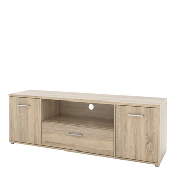 Match TV Unit 2 Doors 1 Drawer 1 Shelf in Oak - Alidasa