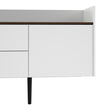 Unit Sideboard 2 Drawers 3 Doors in White and Walnut - Alidasa
