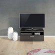 Napoli TV Unit 1 Drawer 2 Shelves in Black Woodgrain - Alidasa