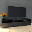 Napoli TV Unit 2 Drawers 3 Shelves in Black Woodgrain - Alidasa