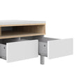 Roomers TV Unit 3 Drawers 1 Door in White and Oak alidasa.myshopify.com