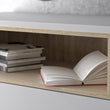 Roomers Sideboard 3 Drawers 3 Doors in White and Oak - Alidasa