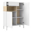 Roomers Sideboard 2 Drawers 1 Door in White and Oak - Alidasa