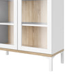 Roomers Display Cabinet Glazed 2 Doors in White and Oak alidasa.myshopify.com