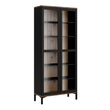Roomers Display Cabinet Glazed 2 Doors in Black and Walnut - Alidasa