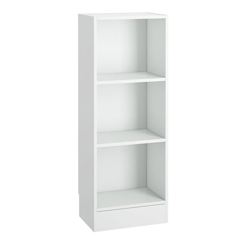 Basic Low Narrow Bookcase (2 Shelves) in White alidasa.myshopify.com