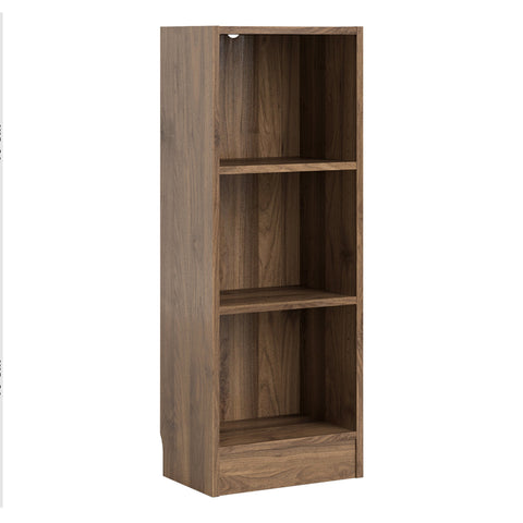 Basic Low Narrow Bookcase (2 Shelves) in Walnut alidasa.myshopify.com