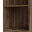 Basic Low Narrow Bookcase (2 Shelves) in Walnut - Alidasa