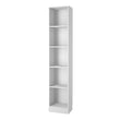 Basic Tall Narrow Bookcase (4 Shelves) in White - Alidasa