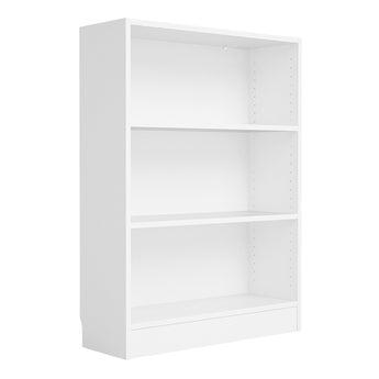 Basic Low Wide Bookcase (2 Shelves) in White alidasa.myshopify.com