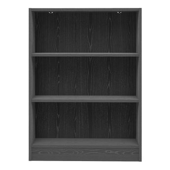 Basic Low Wide Bookcase (2 Shelves) in Black Woodgrain alidasa.myshopify.com