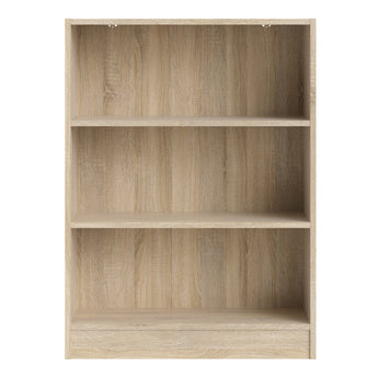 Basic Low Wide Bookcase (2 Shelves) in Oak alidasa.myshopify.com