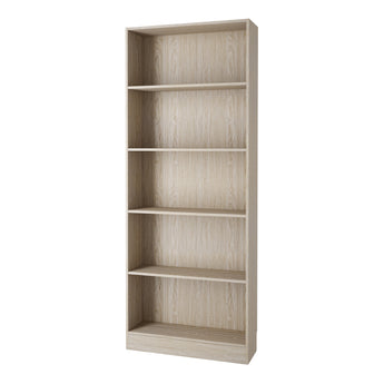 Basic Tall Wide Bookcase (4 Shelves) in Oak - Alidasa