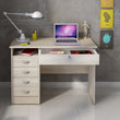 Function Plus Desk 5 Drawers in Oak - Alidasa