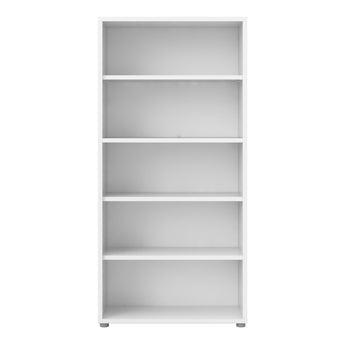 Prima Bookcase 4 Shelves in White alidasa.myshopify.com