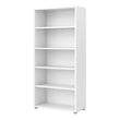 Prima Bookcase 4 Shelves in White - Alidasa