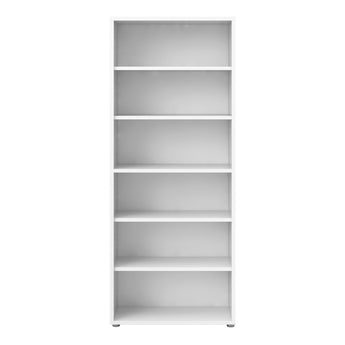 Prima Bookcase 5 Shelves in White - Alidasa