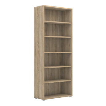 Prima Bookcase 5 Shelves in Oak - Alidasa