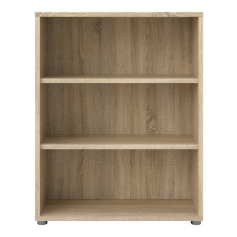 Prima Bookcase 2 Shelves in Oak - Alidasa