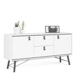 Ry Sideboard 2 doors + 2 drawers in Matt White - Alidasa