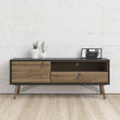 Ry TV Unit 1 door + 1 drawer in Matt Walnut - Alidasa