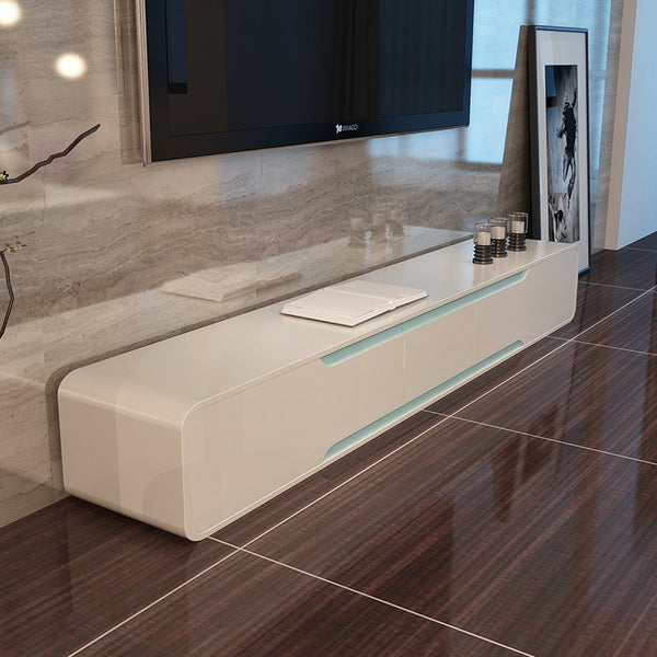 Badini  White Matt Gloss  TV Unit - Alidasa
