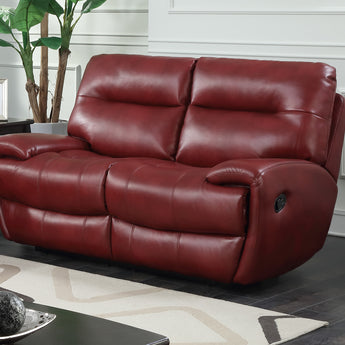 Bailey's Recliner Leather Gel & PU Red 2 Seater alidasa.myshopify.com