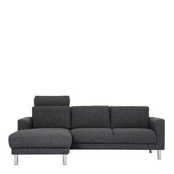 Cleveland Chaiselongue Sofa (LH) in Nova Antracit - Alidasa