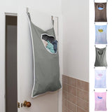 Laundry Hamper Bag Door Hanging Suction Cup Mounted Clothes Basket Organizer