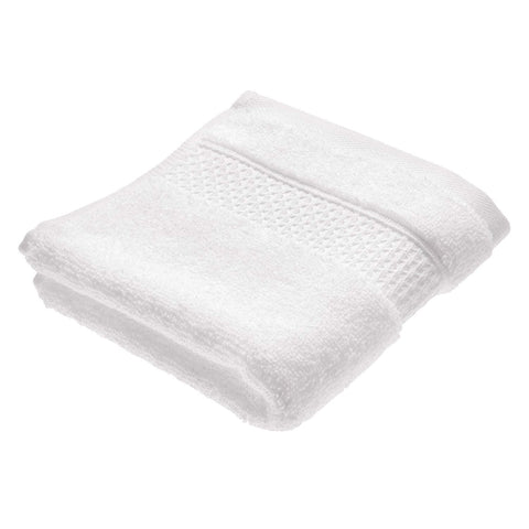 InterDesign Spa Washcloth With Hanging Loop – White